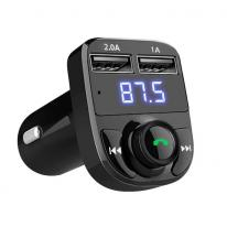 Bluetooth FM Transmitter with Dual USB Car Chargers