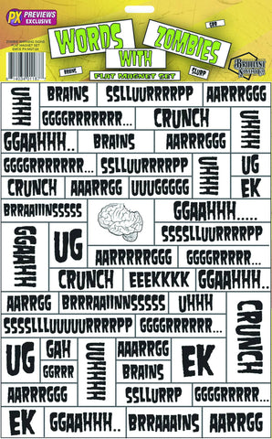 Words with Zombies Magnet Set