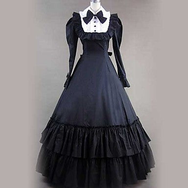 Victorian Gothic Bow Ball Gown