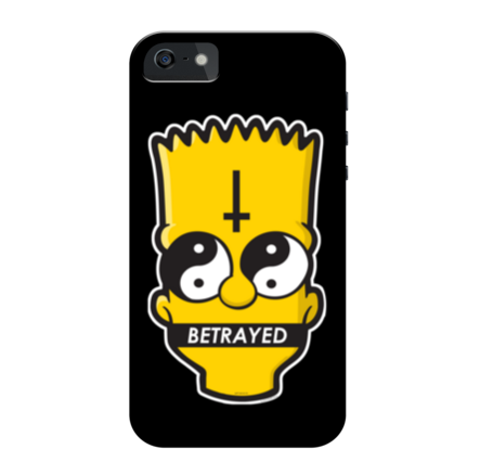 Yin Yang Bart iPhone Case