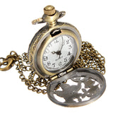 Vintage Butterfly Pocket Watch Necklace