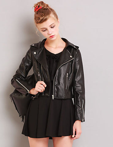 Classic Rock Chic Leather Jacket