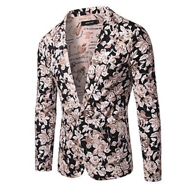 Mens Floral Print Cotton Blazer