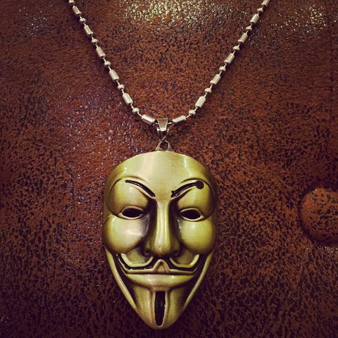 A Symbol of Protest Guy Fawkes Mask Necklace