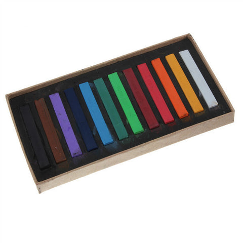 12 Colour Temporary Hair Chalk