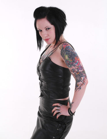 Lilith Leather Skirt