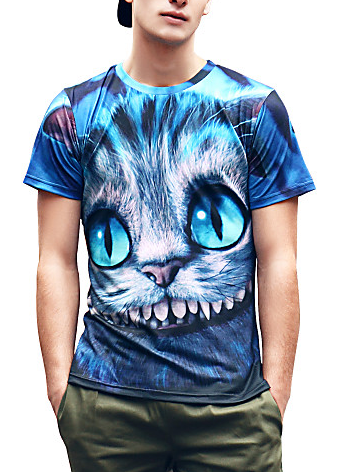 Mens Cat Face Tee
