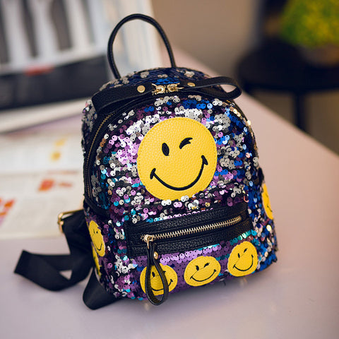 Sequined Emoji Backpack