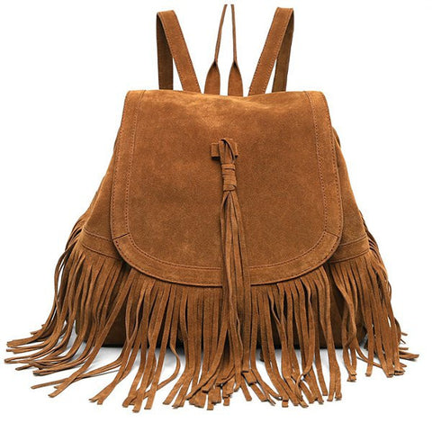 Boho Tassle Backpack