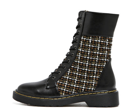 Womens Plaid Boots