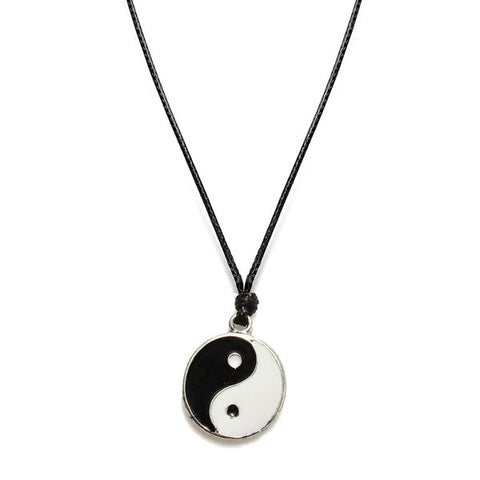 Yin Yang Leather Cord Necklace