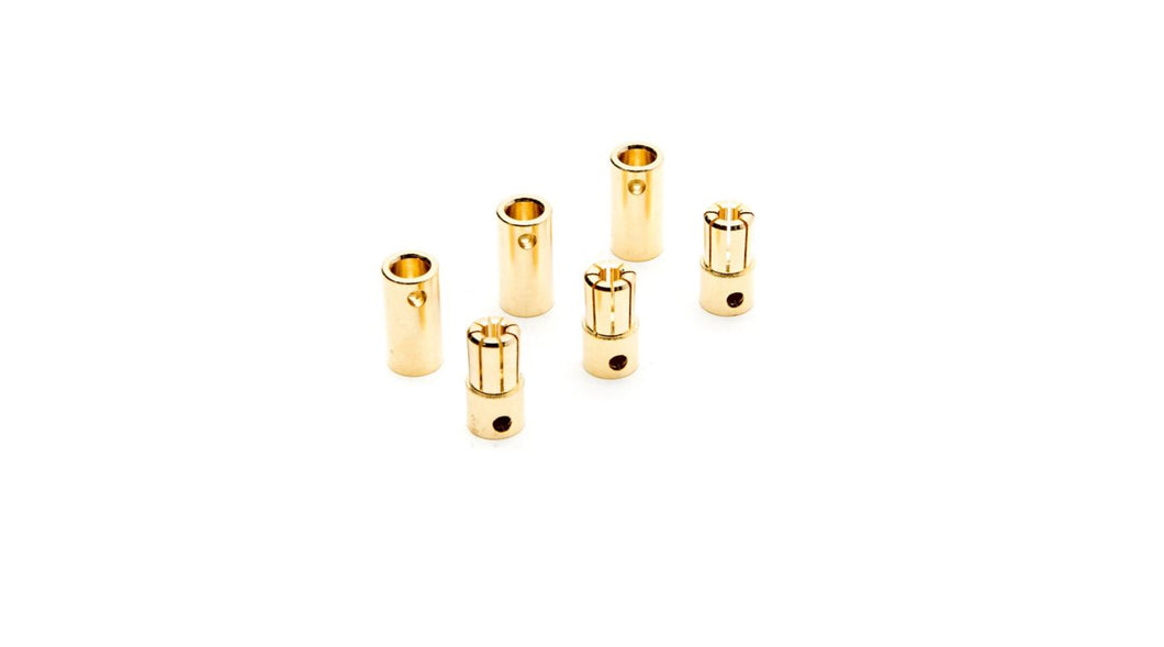 DYNC0091 GOLD BULLET CONNECTOR SET, 6.5MM(3)