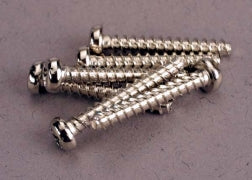 2678 Screws, 3x20mm roundhead self-tapping (6)