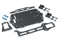 7525 Carbon fiber conversion kit (includes chassis, upper chassis, battery hold down, adhesive foam tape, hardware)
