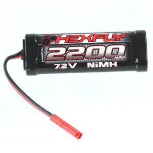 HX-2200MH-B Hexfly 2200mAh Ni-MH Battery - 7.2V with Banana 4.0 Connector