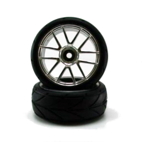 02020c Chrome Road Wheels, 2pcs