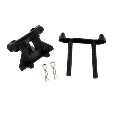 BS810-005 Plastic Front/Rear Shock Tower & Body Post (1pc ea.)