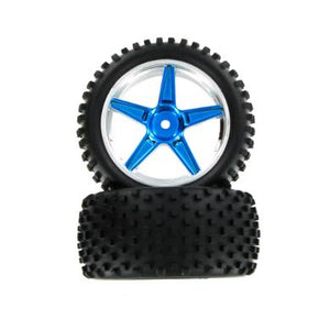 06026pb Complete Rear Wheels, Blue (2pcs)