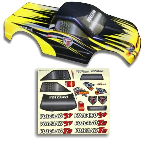 25188-3 1/10 Truck Body Black and Yellow