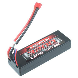 HX-320020C-D 7.4V 3200 mAh LIpo battery with Deans connector