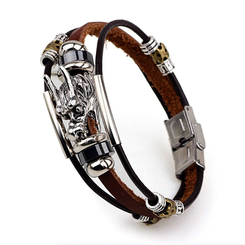 Dragon Leather Bracelet
