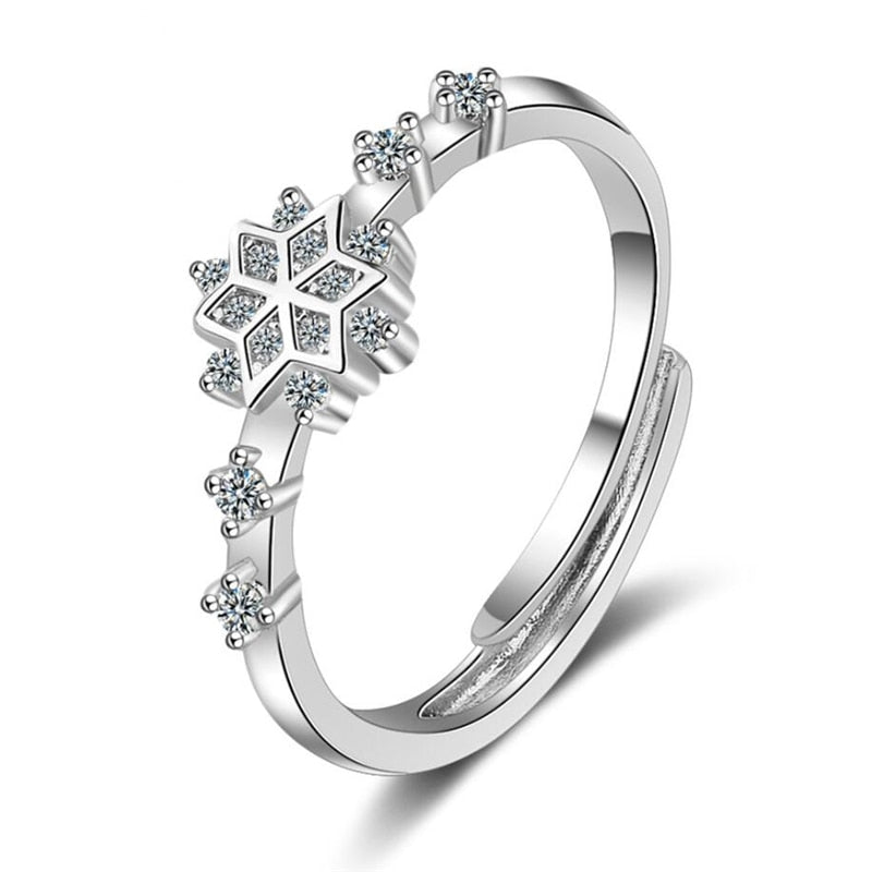 Sterling Silver Snowflake Ring