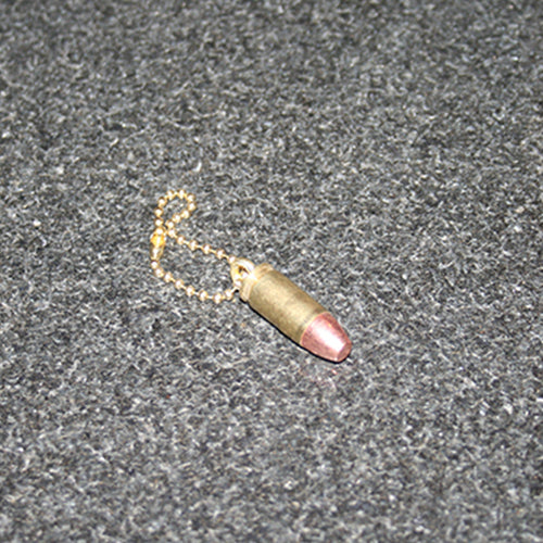 9 mm Spent Brass Bullet Keychain