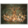 15 Antler, 18 Light Elk Chandelier with downlight
