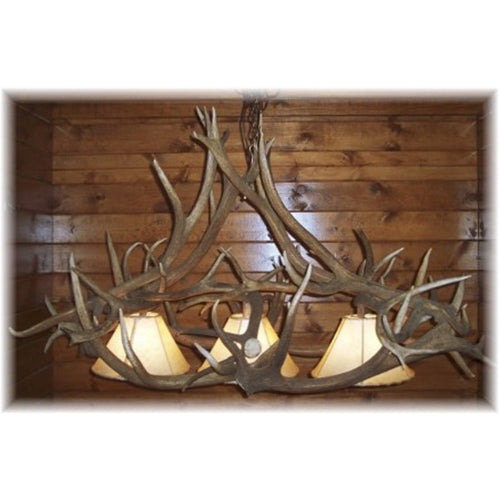 Elk Antler Pool Table Chandelier