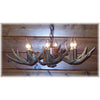 6 Antler, 6 Light Large Whitetail Antler Low Profile Chandelier