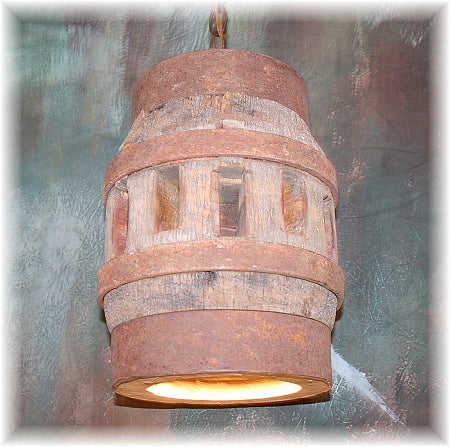 Wagon Wheel Hub Pendant Light