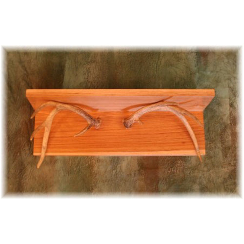 "20"" Deer Antler Wall Shelf"