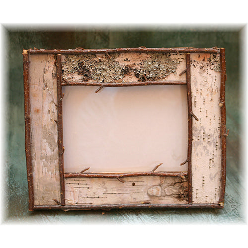 "5x7"" Rustic Birch Bark and Twig Picture Frame"