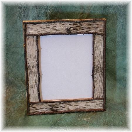 "8x10"" Rustic Birch Bark  Picture Frame"
