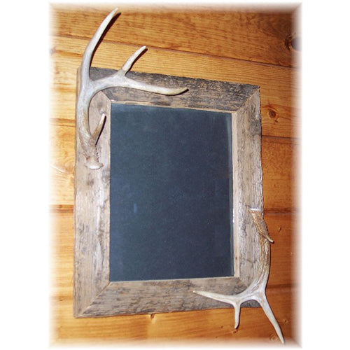 "11x14"" Rustic Barnboard Picture Frame with antler accent"