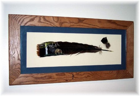 Hand Painted Turkey Feather, Elk