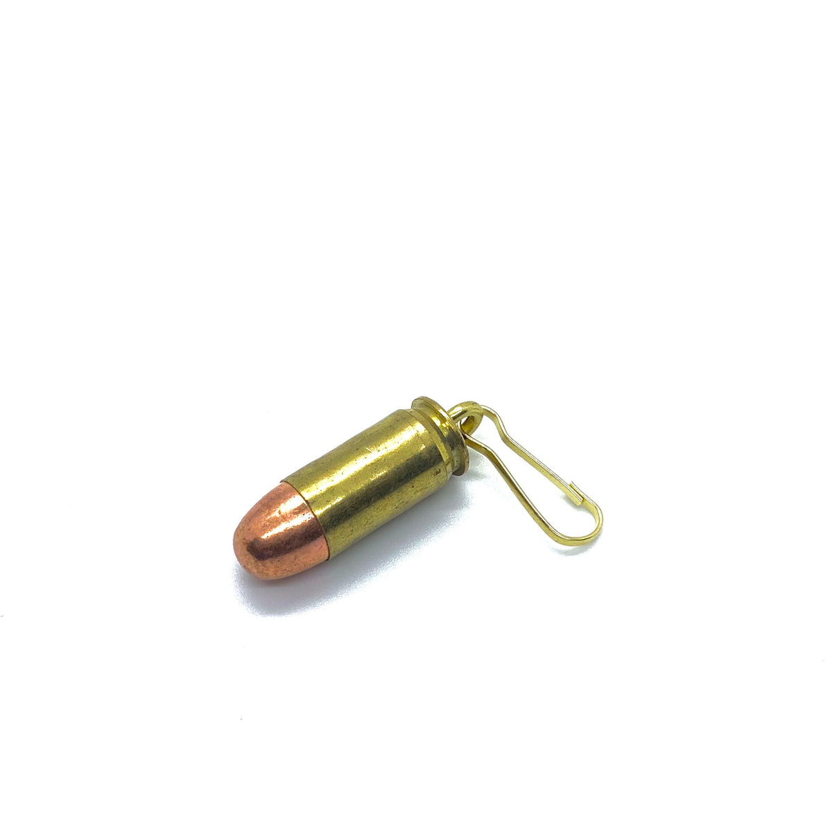 Spent Brass Bullet Zipper Pull