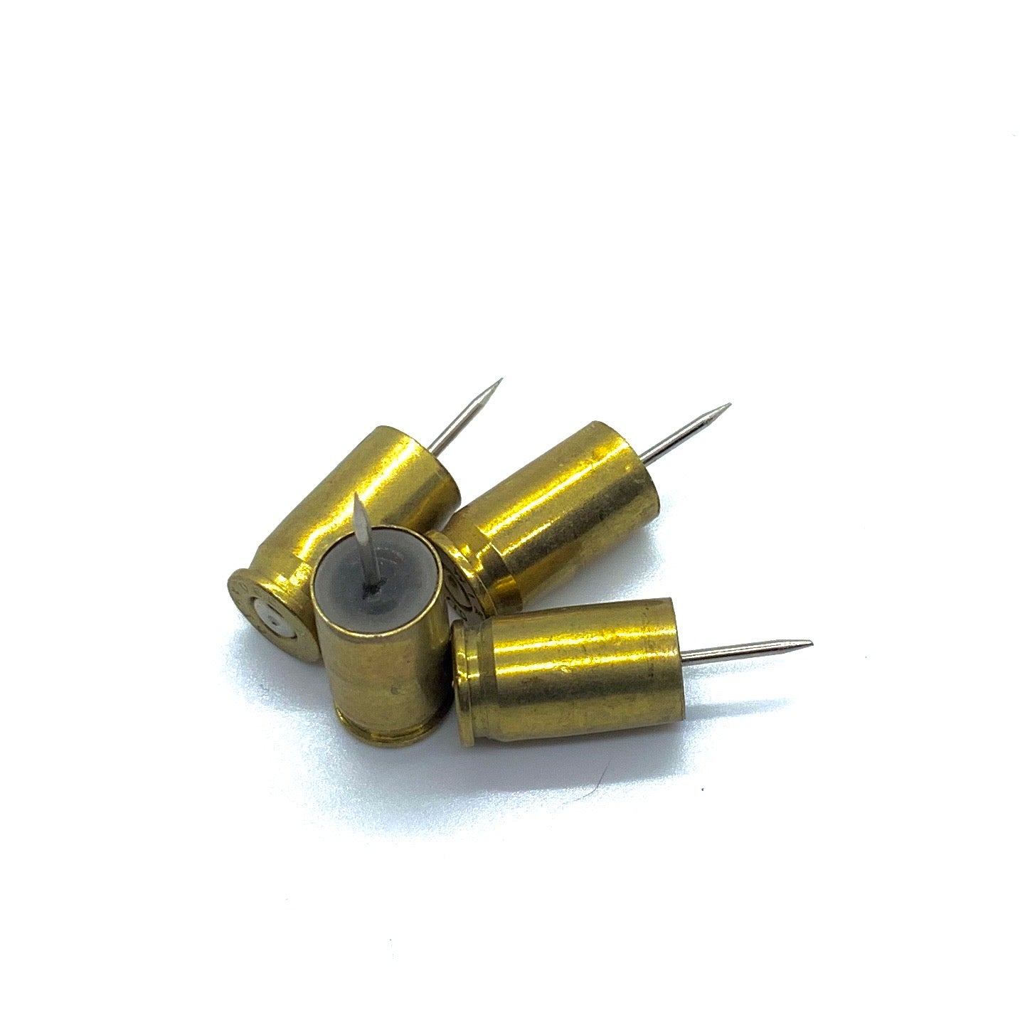 380 Auto Spent Brass Push Pins, 4 ct