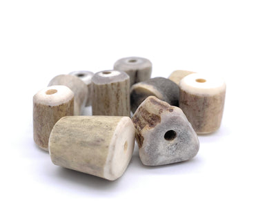 Large Deer Antler Beads, 10 ct