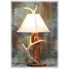 Red Cedar Log and Antler Lamp