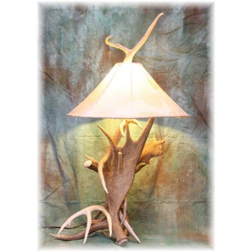 Combination Antler Table Lamp