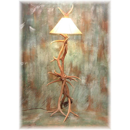 Small Elk Antler Floor Lamp
