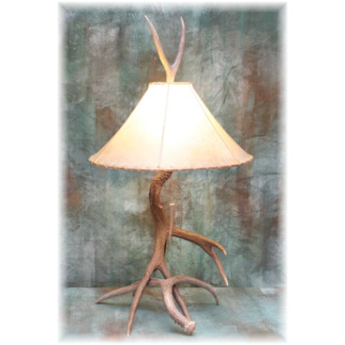 Large 2 Antler Mule Deer Table Lamp