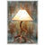 Large 3-4 Antler Mule Deer Table Lamp