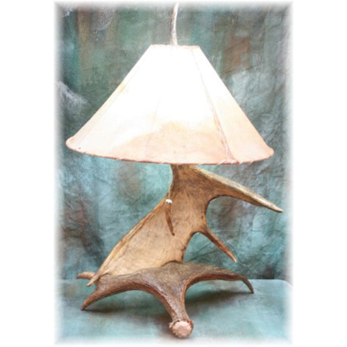 Large Moose Antler Table Lamp