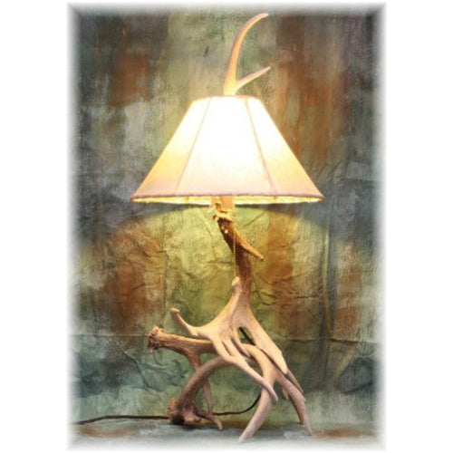 Large Whitetail 3-4 Antler Table Lamp - Whitetail Antler Lamp - Rustic Decor Country Home Farmhouse Hunting Lodge