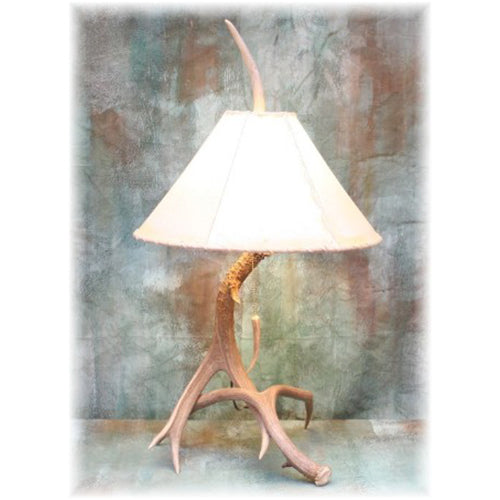 Medium 2 Antler Mule Deer Table Lamp