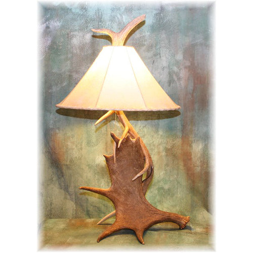 Moose and Elk Antler Table Lamp