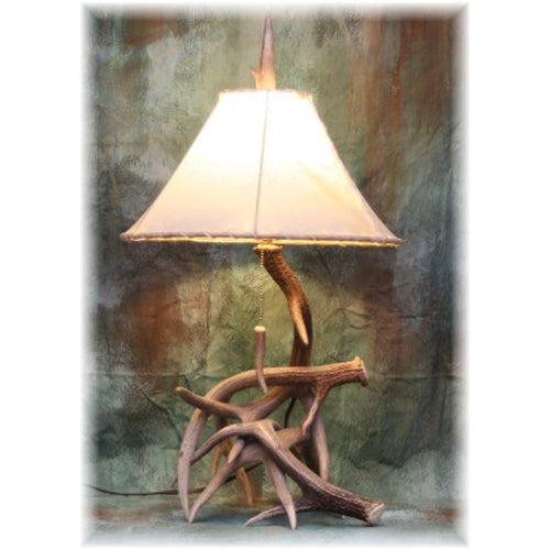 Medium Whitetail 3-4 Antler Table Lamp