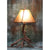 Small 2 Antler Mule Deer Table Lamp